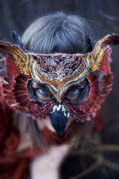 VELVET OWL MASK