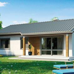 Projekt parterowego, taniego domu o powierzchni 82 m kw. - Najlepsze Domy