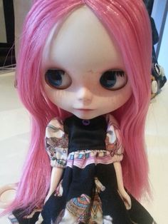 Fucsia pink blythe customized by me