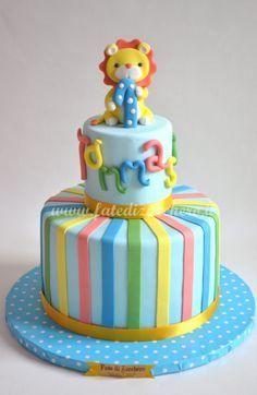 Torta con il Leoncino per il Primo Compleanno     Fate di Zucchero - Cake Designers