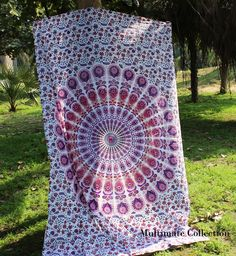 Orchid Peacock Mandala Twin Tapestry