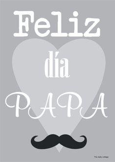 Cartel lámina felicitación día del padre