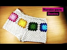 Joanne Archambault shared a video Tops A Crochet, Pull Crochet, Crochet Pants, Crochet Skirts, Crochet Shoes, Crochet Clothes, Knit Crochet, Easy Crochet, Knitting Videos