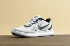 Nike Free RN Running Shoes - White/Black-Pure Platinum On Sale