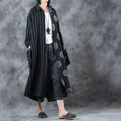 Large Polka Dot Linen Cardigan  #cardigan #linen #plussize