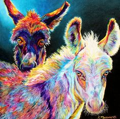 """""""When I manage to express animals' soulfulness, personality, and emotions in a painting, I feel like I have accomplished something. Donkey Drawing, Modern Art, Contemporary Art, Art Beat, Horse Ears, Barnyard Animals, Big Brown, Painter Artist, Donkeys"""