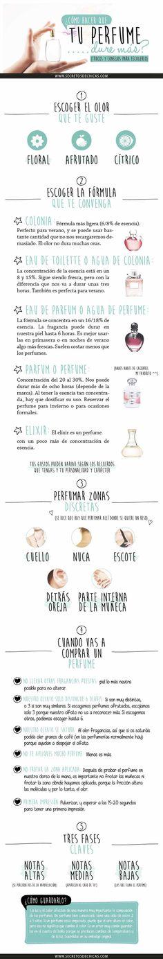 Consejos básicos para escoger tu perfume ideal. #perfumes #tips #infografia