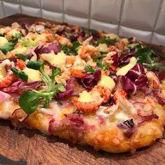 Monikas Matbod: Pizza med kräftstjärtar