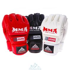 Un Par Guantes de Boxeo PU Cueros MMA UFC a Karate Muay Thai Luchar Guantilla