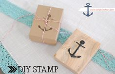 Make a DIY stamp from foam. Sounds so much easier than the way I did it by chiselling away at a rubber...