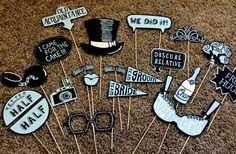 Hochzeit Foto Booth Props Luxus Funny blau von AliceAnnLondon