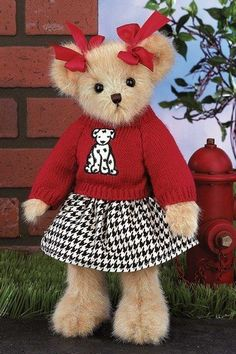 "Sophie Spots Bear - 14"" - Introduction Date: Fall 2011 by Bearington Bears by Bearington, http://www.amazon.com/dp/B005NBJ92Q/ref=cm_sw_r_pi_dp_E8nsrb1XH6MEZ"