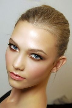 Gold smokey eye- bridal makeup for blue eyes http://www.mybigdaycompany.com/weddings.html