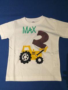 #2.Geburtstag Tshirt #Bagger: mein Sohn liebt Bagger, das Motto für seinen Geburtstag steht fest ;-)