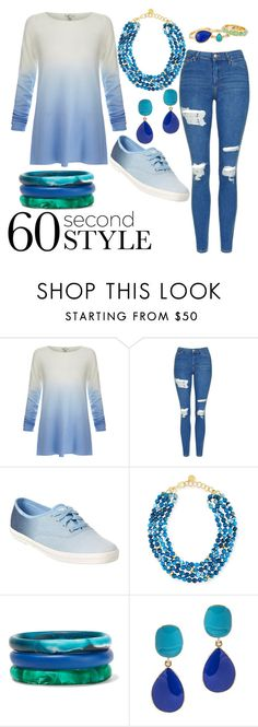 """""""Blue Ombre!"""" by mary63348-1 ❤ liked on Polyvore featuring Joie, Topshop, Keds, NEST Jewelry, Dinosaur Designs, Kenneth Jay Lane, Karen Kane, ombre and 60secondstyle"""