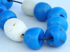 """10 Antique """"Dutch Dogon"""" glass beads. African Trade by faqrun on Etsy"""