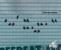 Cartel de Offbeat diseñado por Anja Marais Btech (Port Elizabeth, Sudáfrica)