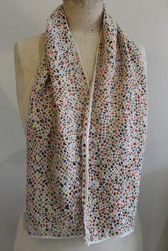 Handmade Sophie Digard Crochet Wool Scarf