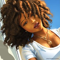 Artist Junior BeckleyPRO source is part of Artist Junior Beckleypro Source In Black Girl Art - Artist Junior BeckleyPRO source Black Love Art, Black Girl Art, Natural Hair Art, Natural Hair Styles, Black Girl Cartoon, Black Art Pictures, Black Artwork, Digital Art Girl, Afro Art