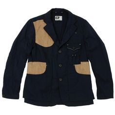 Engineered Garments Shooting Jacket (Navy/Oxford)