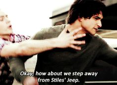 Stiles being hilarious with Scott - teen wolf