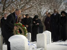 Remembering the Fallen - NASA Administrator Charles Bolden places a wreath at Arlington National Cemetery as part of NASA's Day of Remembrance, Thursday, Jan. 27, 2011. The memorial recognizes the Apollo 1, Challenger and Columbia crews, along with other NASA personnel lost in the course of space exploration.