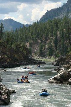 Alberton Gorge Canyon near Missoula, Montana. What a fun travel adventure on the river!