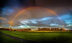 Somewhere over the rainbow you'll find us. We were treated to this amazing rainbow during a rainy day in January 2016 on the Hildon Estate.