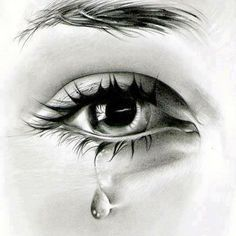 60 beautiful and realistic pencil drawings of eyes Crying Eye Drawing, Cry Drawing, Eye Pencil Drawing, Realistic Pencil Drawings, Pencil Art Drawings, Cool Art Drawings, Tears Art, Crying Eyes, Eye Drawing Tutorials