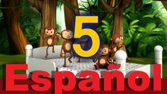 Cinco monitos saltaban en la cama - LittleBabyBum Canciones infantiles H...