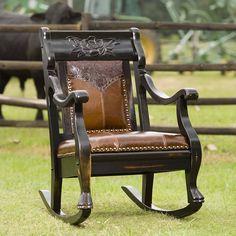 Country Road Furniture 2002RM EA Magnolia Rocker Rocking Chair, Ebony Amber