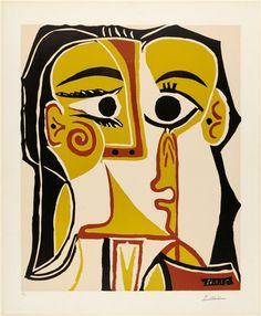 Pablo Picasso. Stylized Portrait of Jacqueline (Portrait Stylisé de Jacqueline), fourth state. (1962, published 1963)