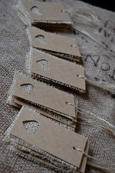Wedding place cards/name tags/favor tags. $25.00, via Etsy.  For the sand…