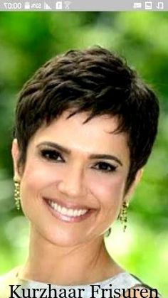 Love the style but want longer uneven bangs Short Shaggy Haircuts, Short Hairstyles Over 50, Short Choppy Hair, Short Haircut Styles, Cute Haircuts, Short Grey Hair, Short Hair With Layers, Short Hair Older Women, Haircut For Older Women