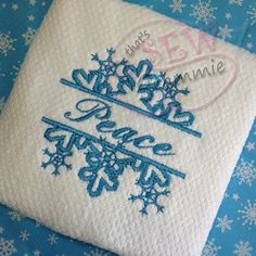 Split Snowflake - 4 Sizes!   Font Frames   Machine Embroidery Designs   SWAKembroidery.com that's SEW Grammie!