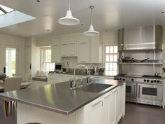 Custom brushed stainless kitchen items by Focal Metals