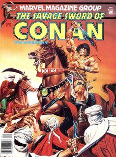 The Savage Sword of Conan The Barbarian / Nº63 cover / Under Siege (Joe Jusko)