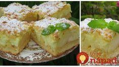 Jablkové oblaky: Náš najobľúbenejší krémový pudingáč s jablkami a kyslou smotanou – jemnejší ako veterníky! Graham Crackers, Apple Pie, Baked Potato, Cauliflower, Mashed Potatoes, French Toast, Cheesecake, Good Food, Food And Drink