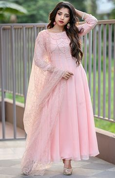 How much price Indian Gowns Dresses, Indian Fashion Dresses, Indian Designer Outfits, Ladies Dresses, Pink Dresses, Modest Fashion, Designer Anarkali Dresses, Designer Gowns, Designer Wear