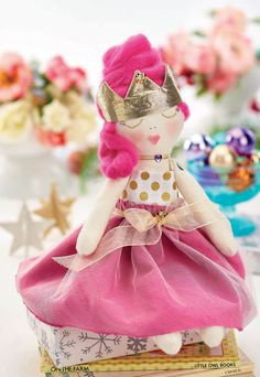 Princess Gloria Stitched handmade Doll FREE pattern download //crafts beautiful