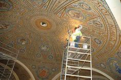 Gilding the Great Hall Dome at the National Academy of Sciences