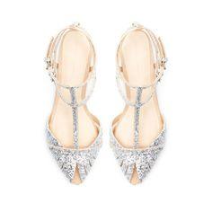 fancy glitter #weddingflat sandal