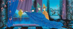 """Concept art for Sleeping Beauty by Eyvind Earle. """"All my foregrounds were tapestry designs of decorative weeds and flowers and gras. Disney Concept Art, Disney Art, Walt Disney, Sleeping Beauty Art, Eyvind Earle, Beautiful Fantasy Art, Tapestry Design, Visual Development, Animation Film"""