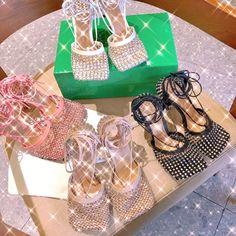 Bottega Veneta bv mesh sandals with crystal stones Bottega Veneta, Stones And Crystals, Mesh, Sandals, Sneakers, Shoes, Fashion, Tennis, Moda