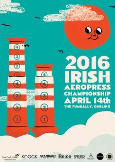 2016 Ireland Rad Coffee, Coffee Desk, Aeropress Coffee, Advertising Poster, French Press, Barista, Irish, The Incredibles, Poster