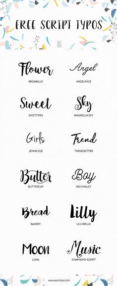 Free Script Fonts selected by Mirá | Mirá Design | Porto Alegre