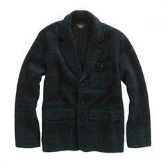 RRL Plaid Wool Blazer