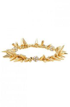 Look rocker chic with a silver or gold spike & pave beaded cluster bracelet from Stella & Dot. Find fashion bracelets, bangles, cuff bracelets, wrap bracelets & more.