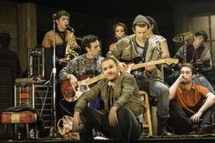 The Commitments musical production image.  Starring Killian Donnelly and Denis Grindel