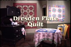 Dresden Plate Quilt Tutorial. From her German heritage, Eleanor shares the history of this beloved pattern. She demonstrates the versatility of the pattern by color selection to create a totally new look: a wreath to adorn the home for the holidays and a scrappy sunflower quilt to brighten the sewing room.